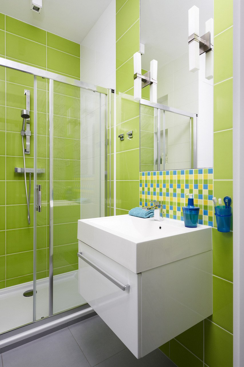 Pisos Para Baño Modernos:Green Bathroom Tile Design Ideas